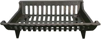6. Panacea Products Corp 18' Blk Cast Iron Grate 15418 Fireplace Grates & Andirons