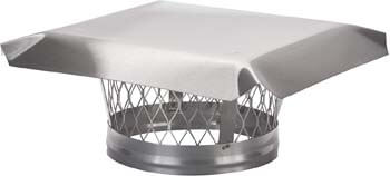 7. HY-C LC8 Round Stainless Steel Clamp-on Single Flue Liner Chimney Cap, 8