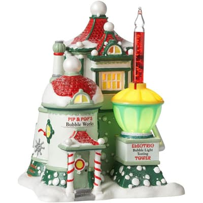 Department 56 Arctic Village Pip and Pop's Bubble Works Lit House, 6.89 in.