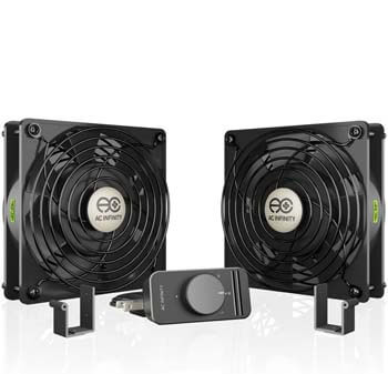 9. AC Infinity AXIAL S1225D, Dual 120mm Muffin Fan