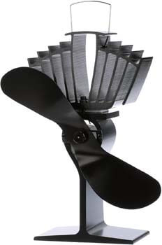 4. Ecofan AirMax Wood Stove Fan, Large, Black Blade
