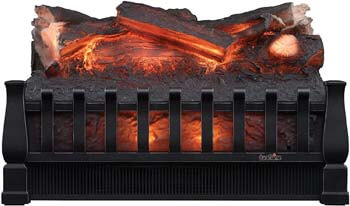10. Duraflame DFI021ARU Electric Log Set Heater with Realistic Ember Bed, Black