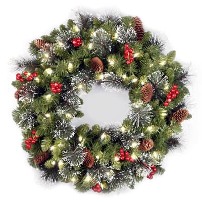 National Tree Company Pre-lit Artificial Christmas Wreath