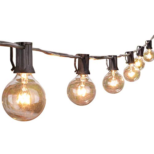 BRIGHTOWN Outdoor String Lights with Edison Glass Bulbs