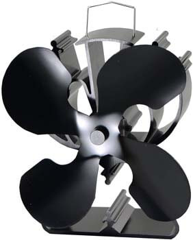 1. VODA 4-Blade Heat Powered Stove Fan