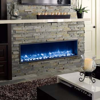 9. DYNASTY Built-In Electric LED Fireplace