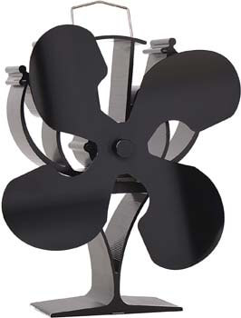 5. VODA New Designed 4 Blades Heat Powered Stove Fan