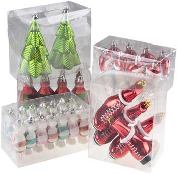 3. Clever Creations 52 Piece Variety Bundle Shatterproof Christmas tree Ornament Set