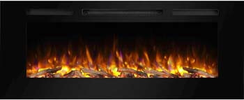 5. PuraFlame Alice 50 Inches Recessed Electric Fireplace
