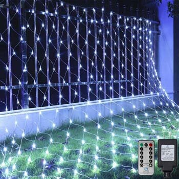 1. Ollny Led Net Lights 200 LED 9.8ft x 6.6ft mesh Lights
