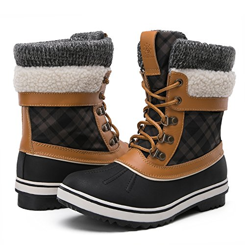GLOBAL WIN Winter Snow Boots for Women