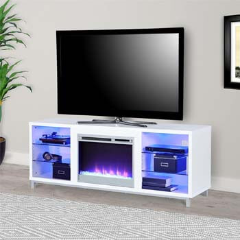 4. Ameriwood Home Lumina Fireplace TV Stand for TVs up to 70