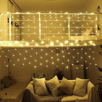 9. Ollny Led Net Mesh Fairy String Decorative Lights Low Voltage