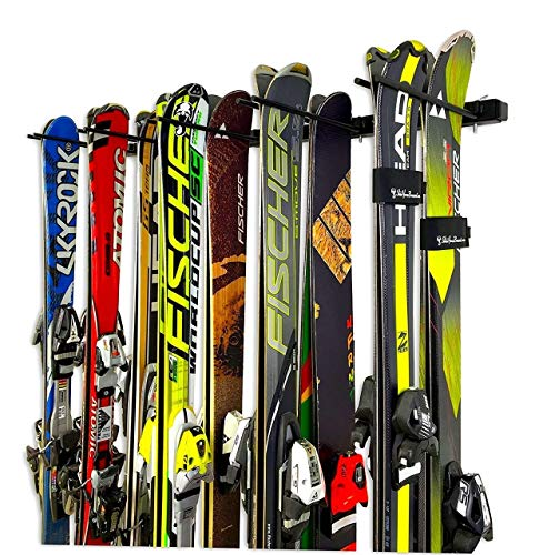 Ski and Snowboard Wall Rack to Hold Ten Pairs of Skis