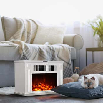 9. GMHome 14 Inches Mini Electric Fireplace