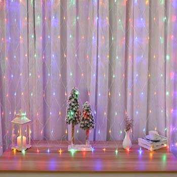 2. Lyhope 12ft x 5ft 360 LED Decorative Net Lights
