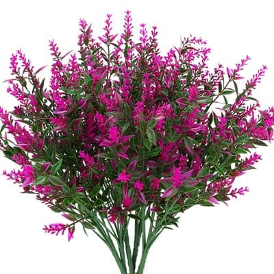 KLEMOO Artificial Lavender Flower Plants 6 Pieces