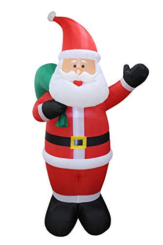 BZB Goods Christmas Inflatable Santa Clause Holding a Gift Bag