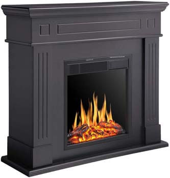 7. R.W.FLAME Electric Fireplace Mantel Wooden Surround Firebox