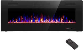 1. R.W.FLAME 30 inch Recessed and Wall Mounted Electric Fireplace
