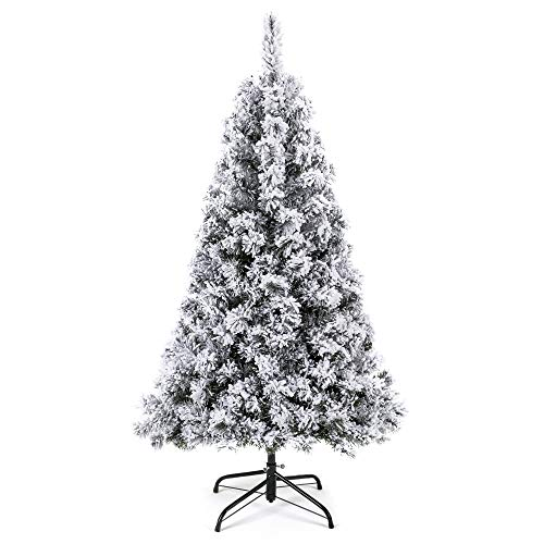 Snow Flocked Hinged Artificial Pine Christmas Trees