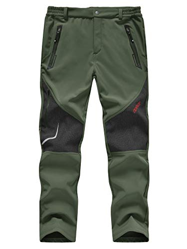 TBMPOY Outdoor Fleece Lined Soft Shell Pants