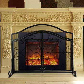 8. INNO STAGE Wrought Iron Fireplace Screen