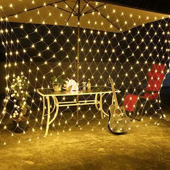 7. LED Lights Net 10ft X 6.6ft 200 Mesh String Lights Low Voltage