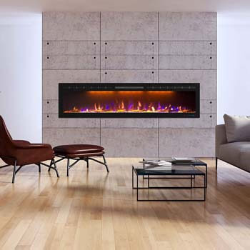 3. Mystflame 72 inch Electric Fireplace
